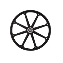 24 inch plastic wheelchair rear wheel