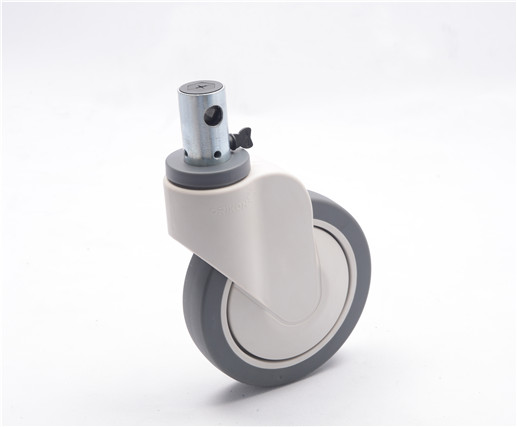 200mm 2D-2 Central Locking Single-Wheel Caster