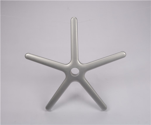 five star Polishing Silver office aluminium chair base 300mm